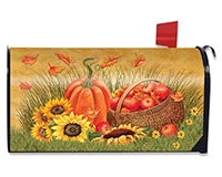 Pumpkin and Apples Mailbox Cover-BLM00707