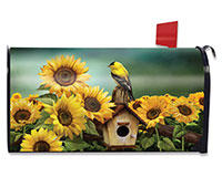 Goldfinch & Sunflowers Mailbox Cover-BLM00765
