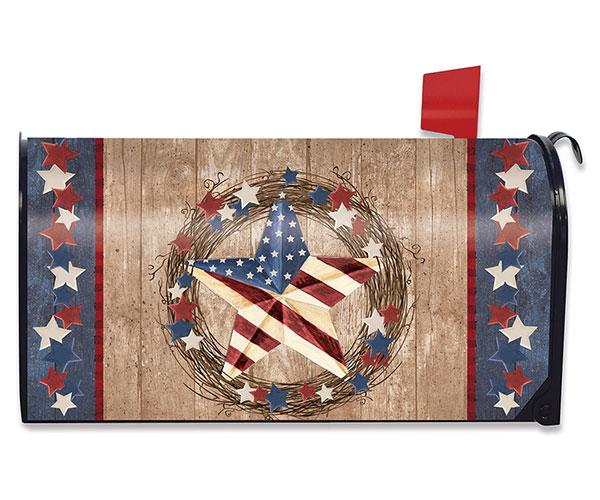 Americana Barnstar Mailbox Cover