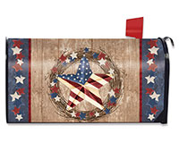 Americana Barnstar Mailbox Cover-BLM00777