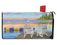 Waterfront Retreat Mailbox Cover-BLM00787