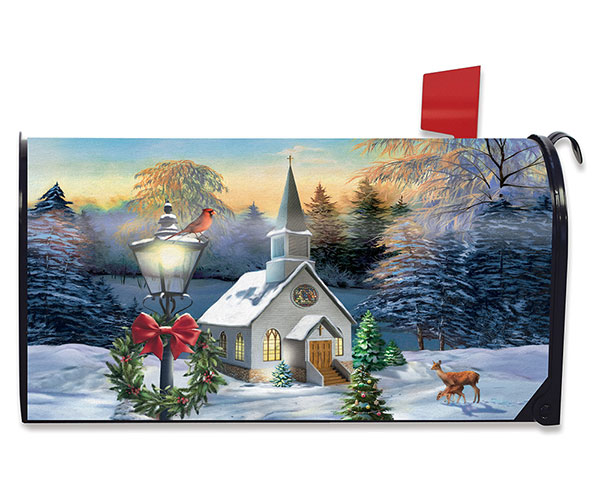 Come All Ye Faithful Mailbox Cover