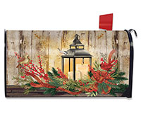 Holiday Lantern Mailbox Cover-BLM00936