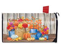 Fall Mason Jars Mailbox Cover-BLM00948
