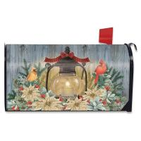 Warm Winter Candle Mailbox Cover-BLM01662