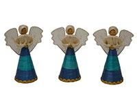 6 inch Sweeny Angel Blue and Green Figurine-ANGEL01136