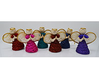 Janie Angel, 3 inch Assorted Colors Gold Trim ANGEL01173