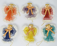 Fan Angel 3 inch, Assortment. Colors, Gold Ribbon ANGEL01204