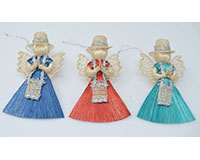 Messenger Angel 3 inch, Green/Red/Blue Dress ANGEL01213