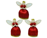 Bonbon Angel, 4 inch, Red Dress, Gold Trim ANGEL01514