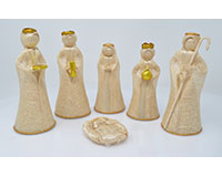 Nativity Set - 6 inch, Gold Trim, Set of 6-ANGEL02026