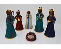 6 inch Nativity Set Colored, Set of 6 ANGEL02036