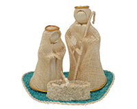 Nativity Set on Green Fiber ANGEL02044