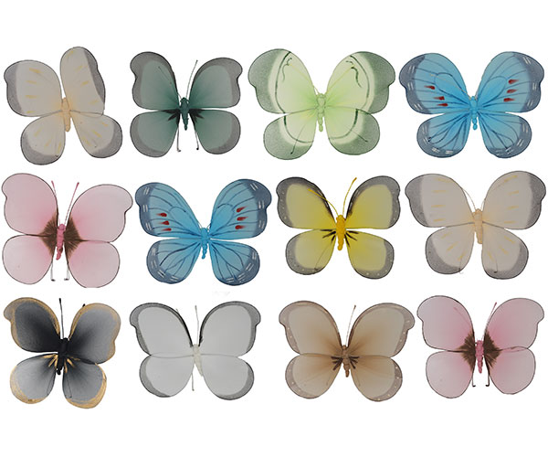 Brushart LG Nylon Butterfly Assortment BRUSH0110'