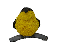 Yellow Brushart Finch Ornament BRUSH0126