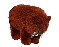 10 inch Brushart Brown Bear with Fish-BRUSH0133F