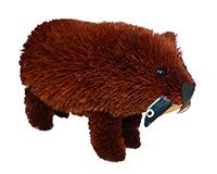 7 inch Brushart Brown Bear with Fish-BRUSH0133FS