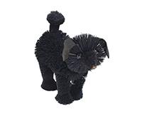 7 inch Brushart Poodle Black BRUSH0164P