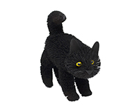 9 inch Brushart Black Cat Standing-BRUSH01883