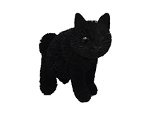 16 inch Brushart Black Cat Sitting-BRUSH01884
