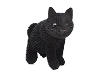 12 inch Brushart Black Cat Sitting-BRUSH01885