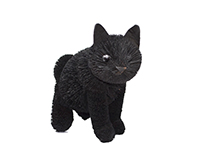 9 inch Brushart Black Cat Sitting-BRUSH01886