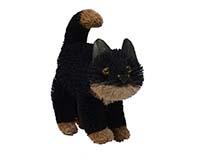 9 inch Brushart Black Cat Standing BRUSH0189