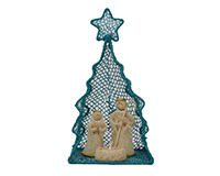 Brushart Nativity Set in Xmas Tree-BRUSH02074