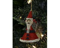 3 inch Santa with Base Brushart Ornament BRUSH03123