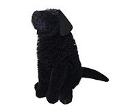 Brushart Black Labrador BRUSHELC18