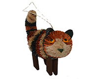 Calico Cat Standing Ornament-BRUSHOR0187