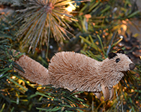 Ferret Natural Brushart Ornament BRUSHOR12