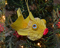 Tropical Fish Assortment (3 assorted) Brushart Ornament BRUSHOR22C