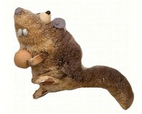 Squirrel Rat Brushart Ornament BRUSHOR43