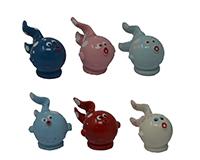 Set of 6 Fish Marble Figurines-MARBLE0209