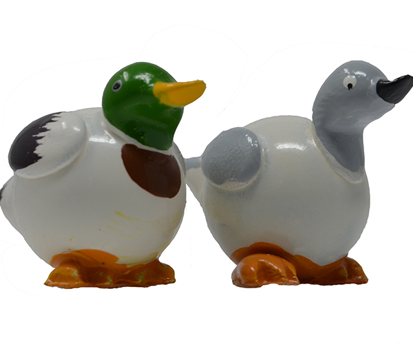 White Mallard Duck Marble (Set of 2) MUST ORDER 3 SETS MARBLE0229W