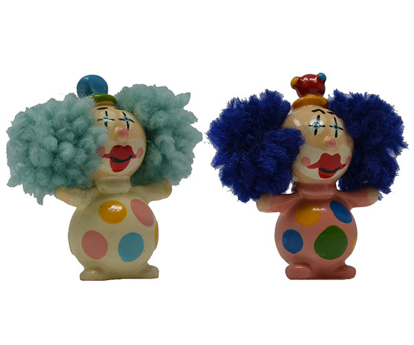 Standing Clown Marble (Set of 2) MUST ORDER 2 SETS MARBLE0303
