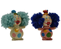Set of 2 Standing Clown Marble Figurines-MARBLE0303