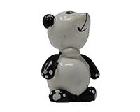 Large Panda Marble Figurine-MARBLE0310