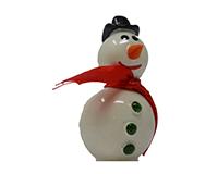 Large Snowman Marble Figurine-MARBLE0313L