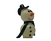 Small Snowman Marble Figurine-MARBLE0313S