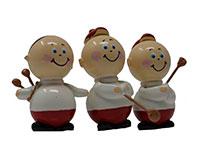 Set of 3 Golfer Marble Figurines-MARBLE0318