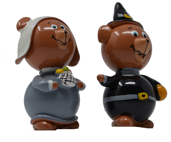Bear Pilgrim Marble (Set of 2) MUST ORDER 2 SETS MARBLE0342