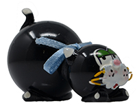 Large Black Cat with Bow MARBLE0506