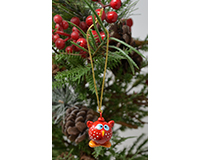 Baby Owl Marble Ornament-MARBLEOR0219B