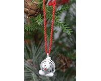 White Tiger Marble Ornament-MARBLEOR0224W