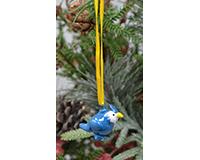 Blue jay Marble Ornament-MARBLEOR0278