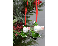 Mouse Marble Ornament-MARBLEOR0418
