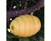 Bee Hive Yellow Bird House-BYERMTCD118Y