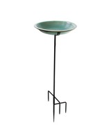Circle Bird Bath Staked Jade Green-BYERSBP775